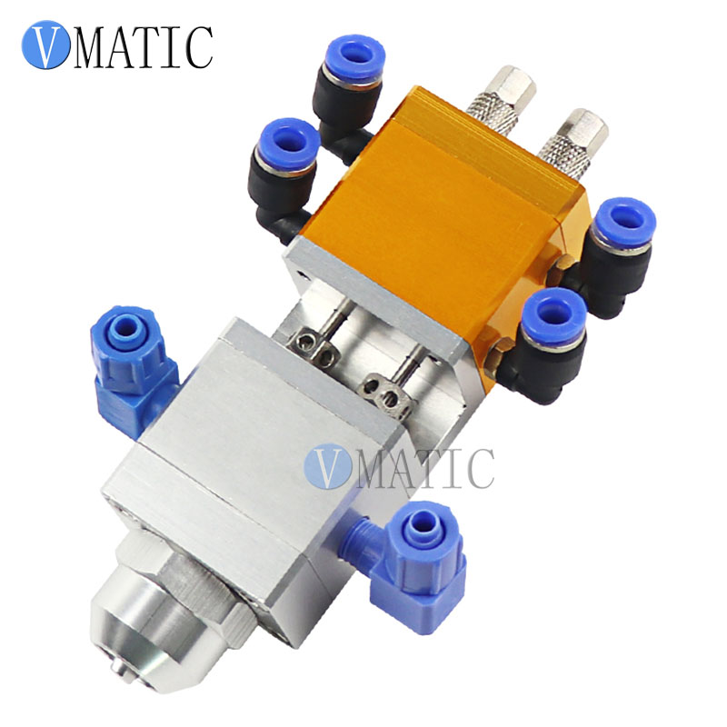 Free Shipping Dual Fluid Suction Lift Large Flow Double Acting Cylinder AB Glue Dispensing Valve