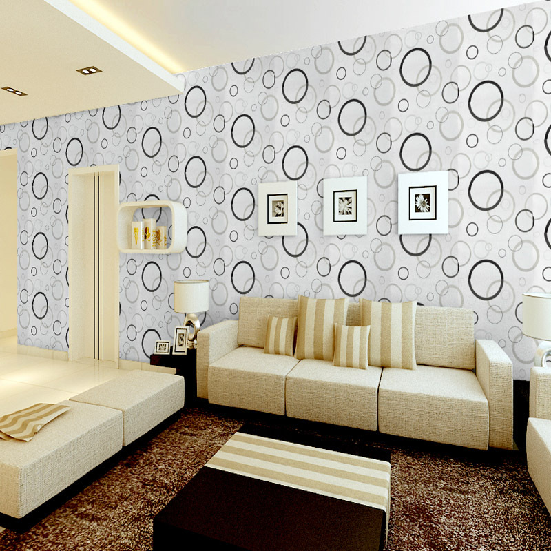 0.53*10M Non-woven Modern Minimalism Circle Wallpaper Roll For Walls Bedroom Living Room Wall Papers Home Decor Contact Paper modern minimalist grid non woven wallpaper for walls bedroom living room sofa full of paving wall covering wallpaper home decor