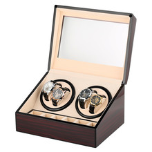 Luxury 4+6 Storage Winding Box Automatic Mechanical Watch Winder Silent Motor Shaker Box High Quality Winding Case luxury automatic watch winding box single holder silent motor storage box winder case for mechanical self wind clocks with plug