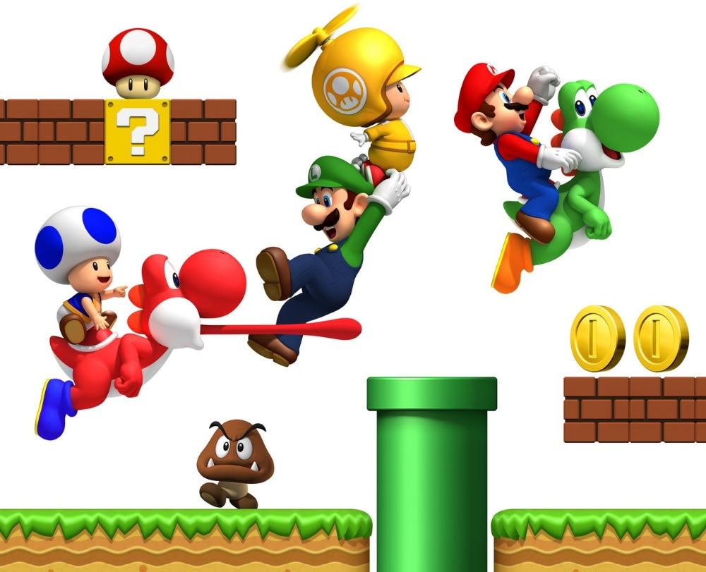 Super Mario Bros Bedroom Decor Popular Super Mario Wallpaper Buy Cheap Super Mario Wallpaper Lots