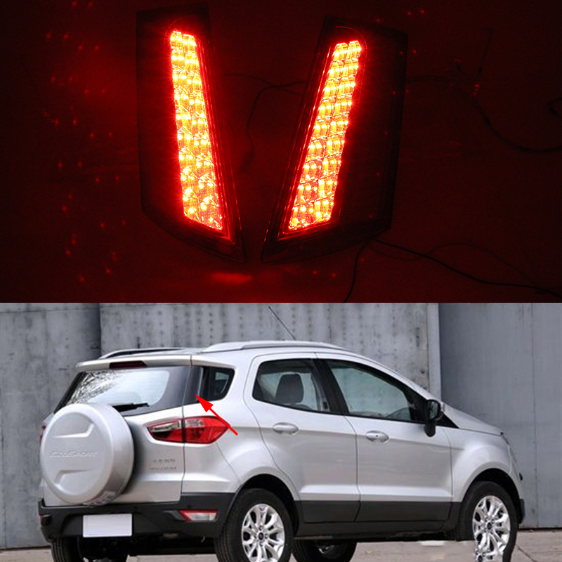 1 Pair Car Rear lamp For Ford Ecosport 2013 2014 2015 2016 2017 2018 LED Rear