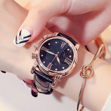 GUOU Women Watches Top Brand Women's Watches Genuine Leather Watch Roman Numerals Ladies Watch Women Clock saat relogio feminino