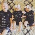 Venta caliente 2016 Niños Bro Grande Muchacho de la Ropa de Algodón Del O-cuello Ropa Niños Corta Camiseta y Tops Traje