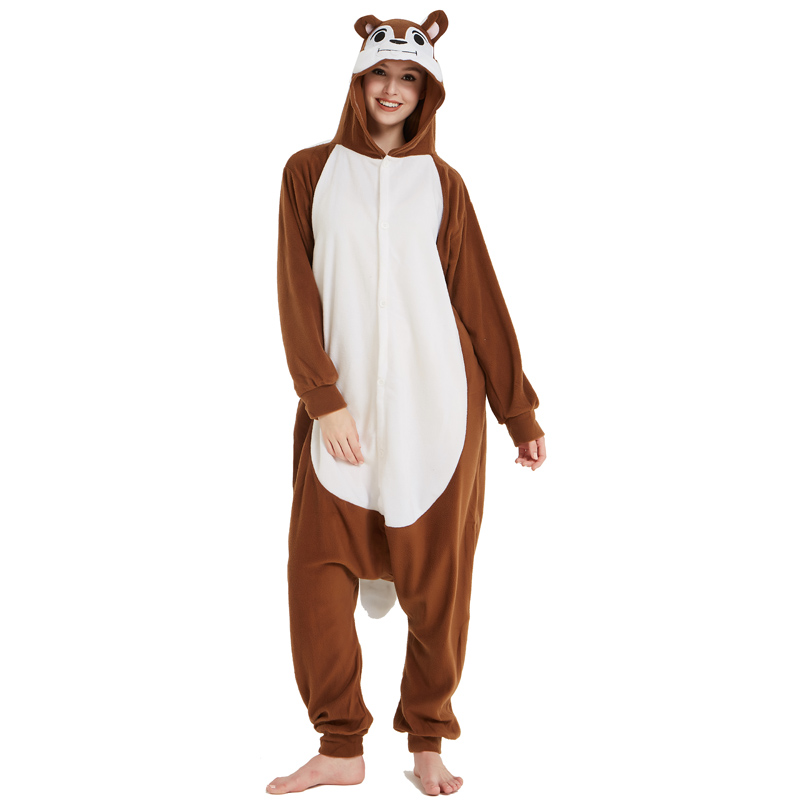 Unisex Adult Animal Squirrel Pajamas Cartoon Chipmunk Kigurumi Onesies Costumes Jumpsuits Christmas Gift (6)