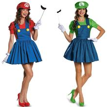 2016 Adults Women Cosplay Super Mario Bros. Costume Halloween Super Mario Costume Disfraces Adultos Carnival Costume