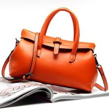 2017 New Fashion Litchi Pattern Leather Handbag First Layer of Leather Shoulder Bag Handbag L5012