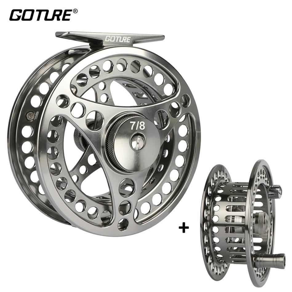 Goture Large Arbor CNC Machined Aluminum Fly Fishing Reel 3 4WT 5 6WT 7 8WT 9