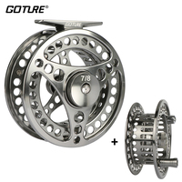Goture Large Arbor CNC Machined Aluminum Fly Fishing Reel 3/4WT 5/6WT 7/8WT 9/10WT Disc Drag System Trout Salmon Fishing Reel