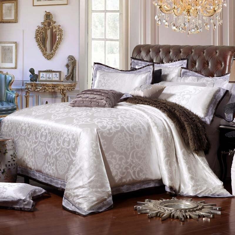Heimtextilien Bettwäsche Set Jacquard Luxus Baumwolle Bett Set - Haustextilien - Foto 6