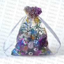 100 PCS Whosale Adjustable Jewelry Packing Coral European Root Yarn bag 9x12cm,Wedding Gift Bags & Pouches