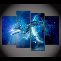 JIE DO ART 4 Pieces Star Trek Movie Game Poster Wall Art Picture Home Decoration Living