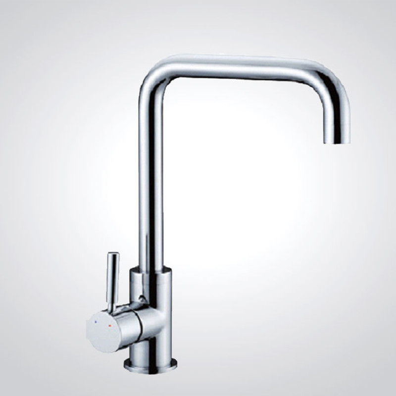 Free shipping Top quality kitchen sink faucet with solid brass kitchen mixer tap from senducs sanitary
