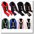 Exquisite New Women Necklace Scarves Owl Pendant Jewelry Tassels Scarf Shawl Wrap  Suzie