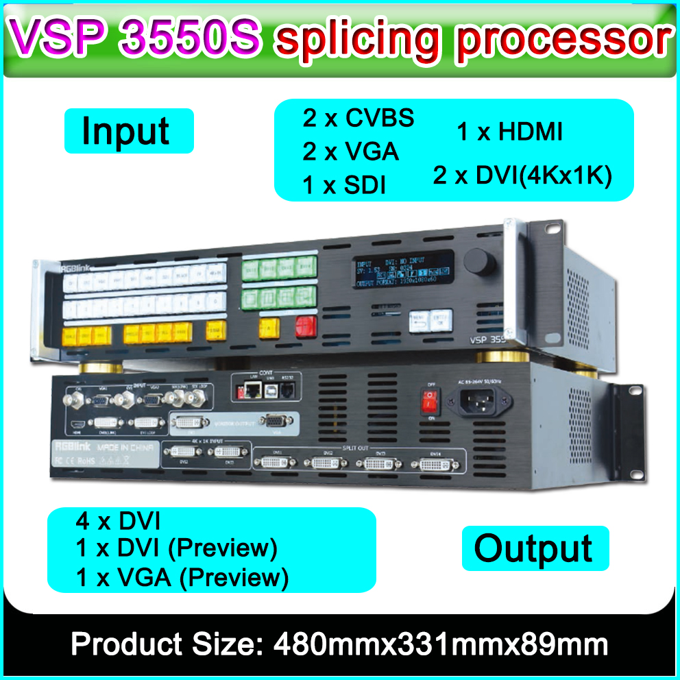 RGBlink VSP 3550S Profession HD Led Video Splicing Processor Of Lager Display Screen