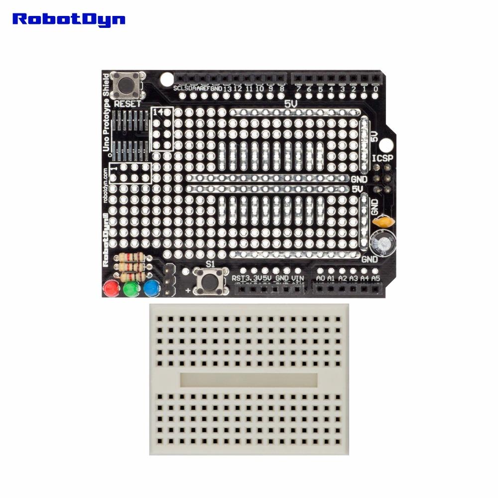 Uno Prototype Shield with mini breadboard,  ProtoShield compatible for Arduino UNO, Mega 2560, Leonardo, Duemilanove