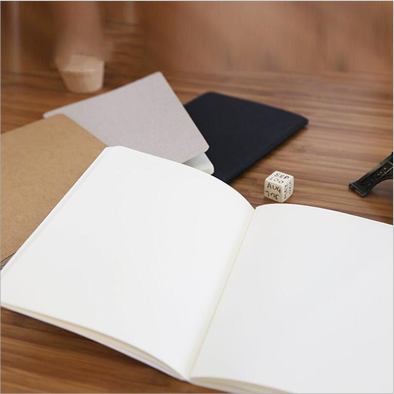 1Pcs Casual White Solid Color Graffiti Car Line Of The Original Note Notebooks Portable Notebook Korean Stationery