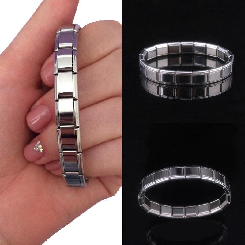 Collection Here Lnrrabc 1pc Hot Trendy Charming Elastic Lettering Stainless Steel Unisex Women Men Bracelet Bangle Bracelets & Bangles Bangles