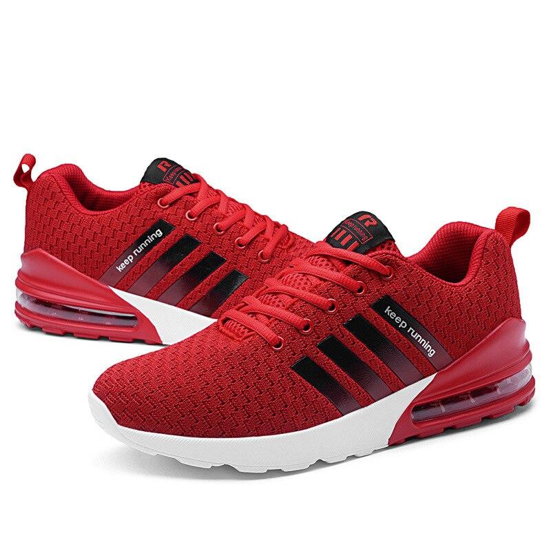Nouveaux hommes volant tissé décontracté chaussures de sport chaussures pour hommes léger coussin chaussures de course hommes