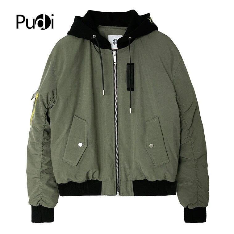 PUDI MT893 2018 nouveaux hommes polyester canard vers le bas manteau automne hiver manteau garçon sport t-shirt loisirs manteau