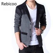 Spring New Men 'S Knitted Cardigan Male Korean Coat Slim Sweater Blazer Masculino