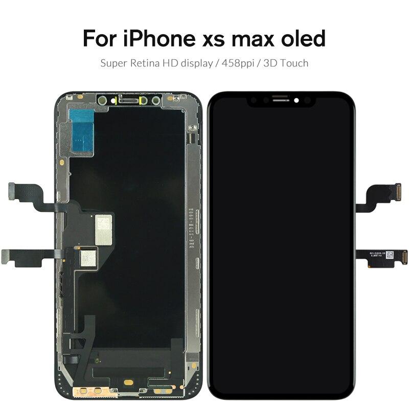 Qualité Pour iPhone X S Max XR écran lcd Pour Tianma AMOLED OEM écran tactile Avec remplacement du numériseur pièces d'assemblage Noir - 5