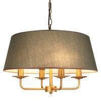 Современная простая ткань затененный подвесной светильник E14 лампы металлический держатель для лампы подвесные светильники Спальня Гости