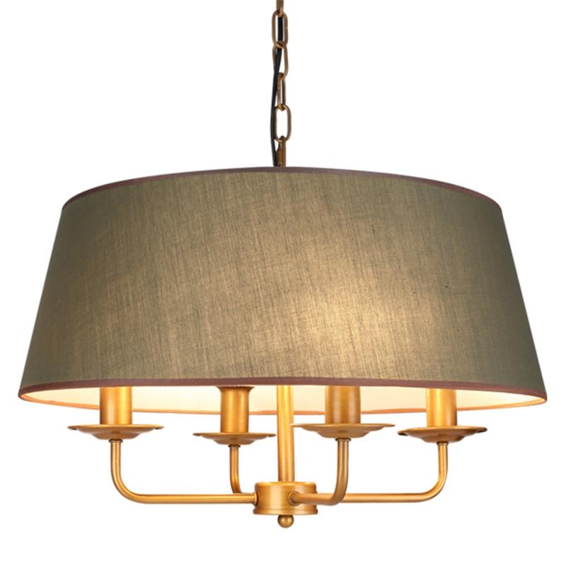 Modern Simple Fabric Shade Pendant Lamp E14 Bulb Metal
