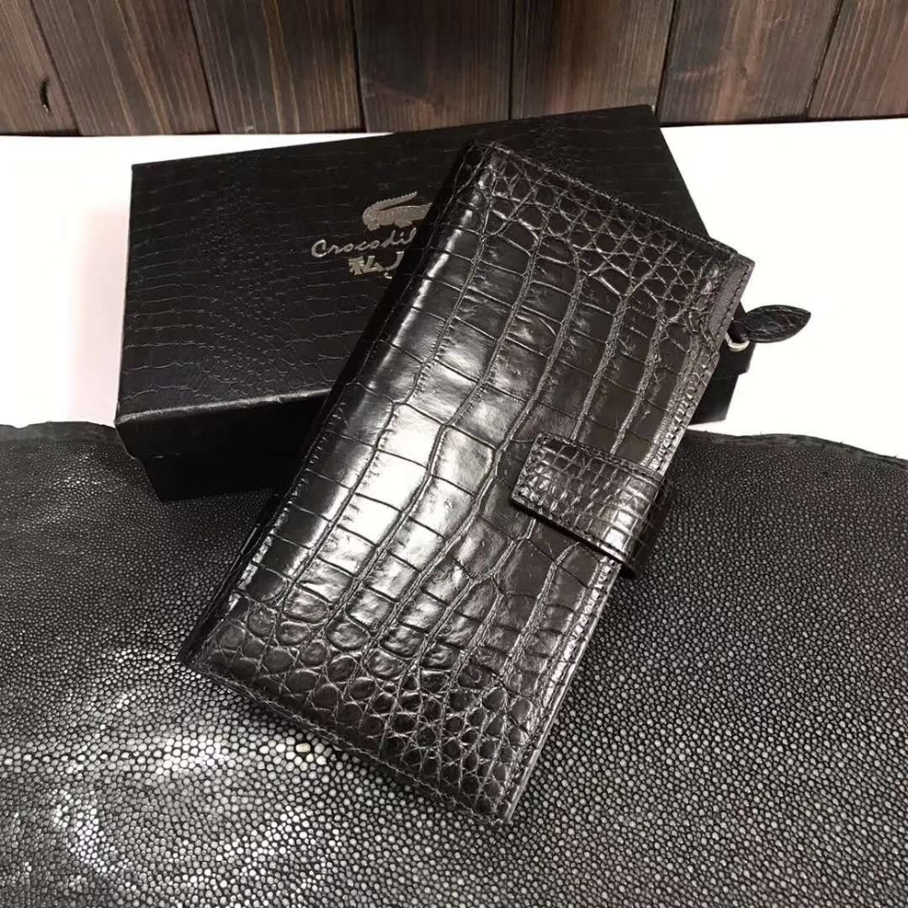 100% genuine crocodile leather belly skin wallet and purse excellent solid quality men business card credit card holder case  100% genuine crocodile leather belly skin wallet and purse excellent solid quality men business card credit card holder case