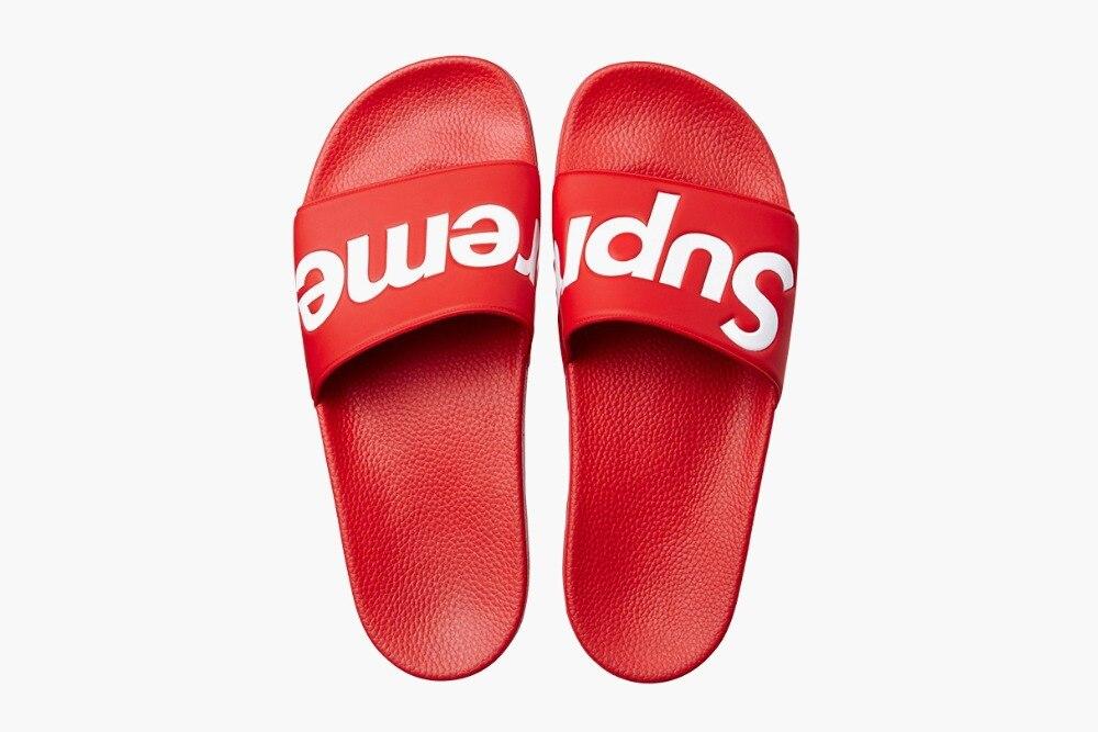 061e1c8c0c464 FREE SHIPPING Original Supreme Slippers supreme shoes Box logo Sandals  Fashion Sneaker Supreme Sandals Supreme Sneakers em Sandálias das mulheres  de Sapatos ...