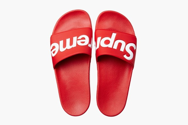 06b46fe6c1d6 FREE SHIPPING Original Supreme Slippers supreme shoes Box logo Sandals  Fashion Sneaker Supreme Sandals Supreme Sneakers
