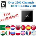 Pakistán X96 IPTV Smart TV Box + 2200 + Albanés/Francés/Alemania/reino unido/Árabe/Deportes/Turksih/Kurdo/Isreal/Indian IPTV OTT set top bo