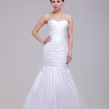 DENIA'S BRIDAL Beaded Mermaid Wedding Dresses Court Train
