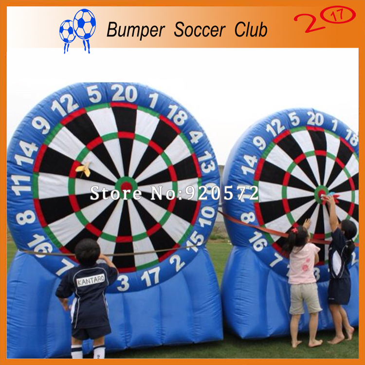 Free shipping ! 3m/4m/5m/6m/7m Super blue Inflatable Dart Board ,inflatable soccer dart board games,outdoor play akg pae5 m