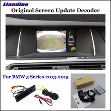 Liandlee Car Original Screen Update System For BMW 5 F10/F11/F07/G30/G31/G38 Rear Reverse Camera Digital Decoder Display Plus