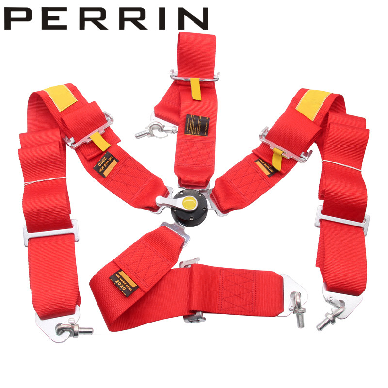 High quality racing 4 Point Racing Safety Seat Belt FIA 2020 /width:3 inches/4 Point color red fia deluxe