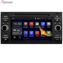 "Topnavi 7"" Quad Core Android 6.0 Car DVD Play for FOCUS/MONDEO/S-MAX/CONNECT Autoradio GPS Navigation Audio Stereo"