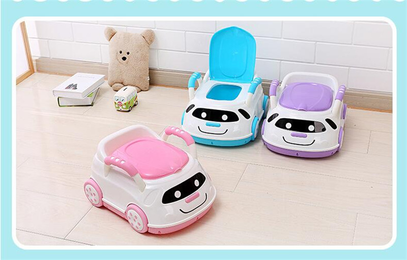 Cute Bebe Camping Car Portable Potty Child Cartoon Toilet Seat Kids Pinico WC Toilets For Boys & Girls Baby Potty Training Free 06