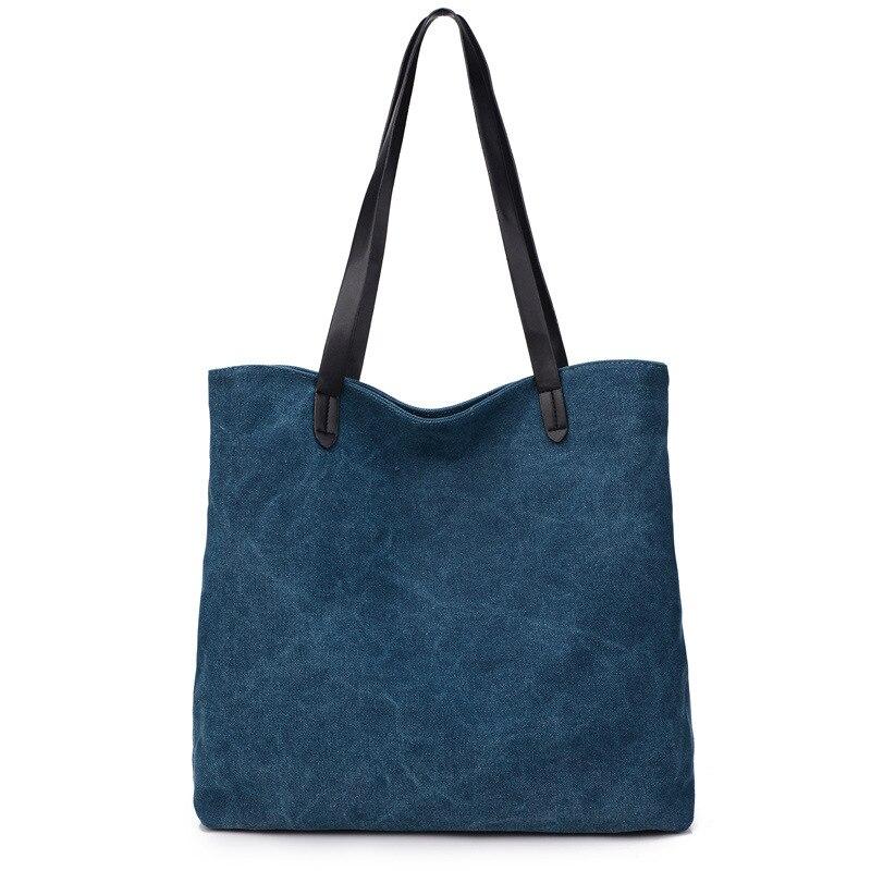 New Women Canvas Handbag Shoulder Handbag Female Large Capacity Ladies Beach Bag Women Canvas Tote Shopping