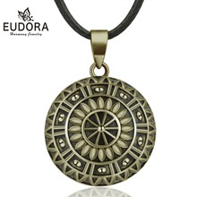 Eudora 20mm Copper Gorgeous Daisy Mexican Bell Harmony Bola Ball Pendant Necklace for Pregnancy Women Vintage fine Jewelry B336 gorgeous bell pendant choker necklace for women