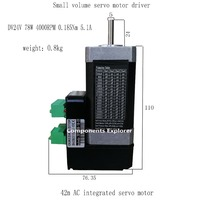 78W 4000rpm NEMA17 0.185Nm 42 AC integrated servo motor Small volume servo motor 42BLS110EC1 YT