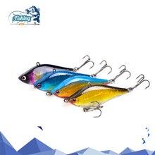 Купить с кэшбэком New arrival 1 PCS Fishing Lure Sinking VIB Lure 14g 6cm Hard Lure 4 Colors Deep Diving Crankbait Lifelike artificial Wobblers
