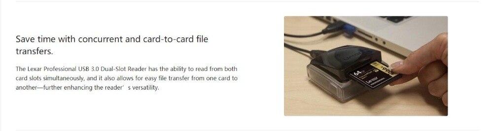 Lexar Professional USB 3.0 Dual-Slot Reader 4