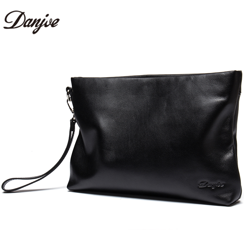 DANJUE Fashion Luxury Genuine Leather Day Clutches Bag Men Business Phone Small Bag Natural Real Cowhide Men Purse Wallet Bags kavis men long wallets genuine leather luxury brand designer purse men first layer cowhide men day clutches bag
