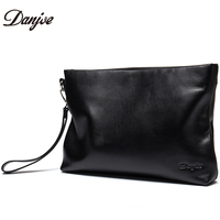 DANJUE Fashion Luxury Genuine Leather Day Clutches Bag Men Business Phone Small Bag Natural Real Cowhide Men Purse Wallet Bags