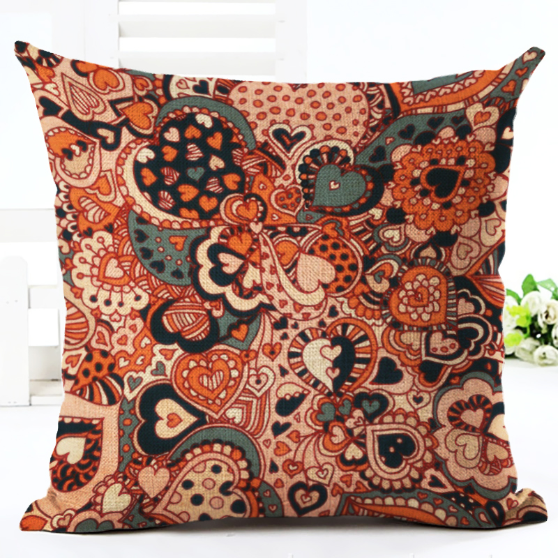 2016 New Arrived Home Decor Cushion Cover Bohemian Style Flower Home Decorative Throw Pillowcase Cojines Almofada