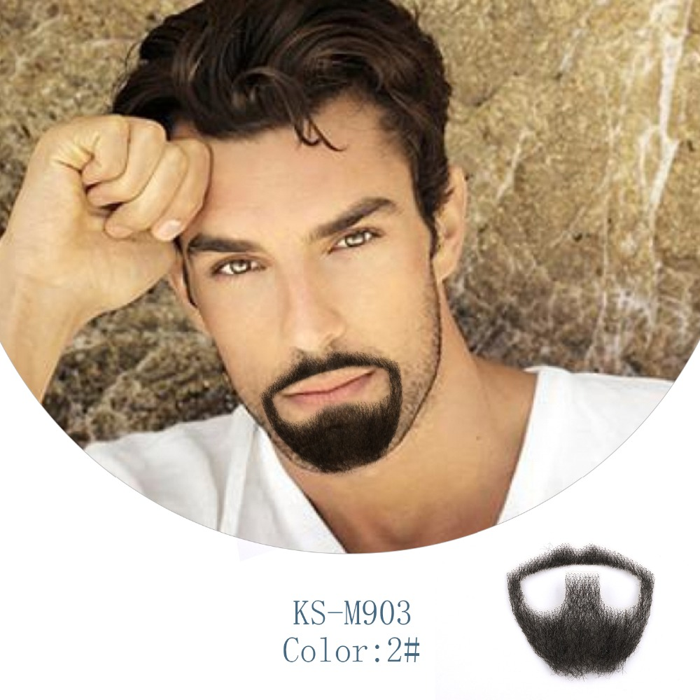 Neitsi Men's 1Pcs Fake Beard 100% Human Hair Fake Handmade Mustache KS-M903