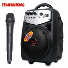 30 Вт высокое Мощность громкоговоритель Беспроводной микрофон Усилитель Портативный Динамик литиевых Батарея Поддержка tf карты usb Play колонка