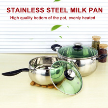 Newly 1 Pcs Stainless Steel Cook Pot Stockpot with Lid Milk Saucepan Cookware