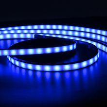 цена на Multi colors Car Atmosphere Lamp Under Underbody System Neon Light Kit Remote Control Underglow Flexible Strip Light