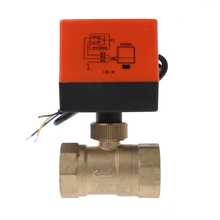 Electric Motorized Brass Ball Valve DN20 AC 220V 2 Way 3-Wire with Actuator цены онлайн
